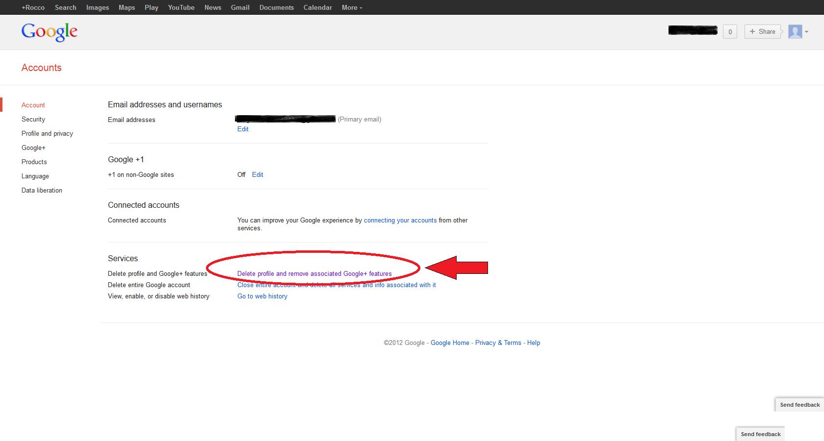 View gmail profile