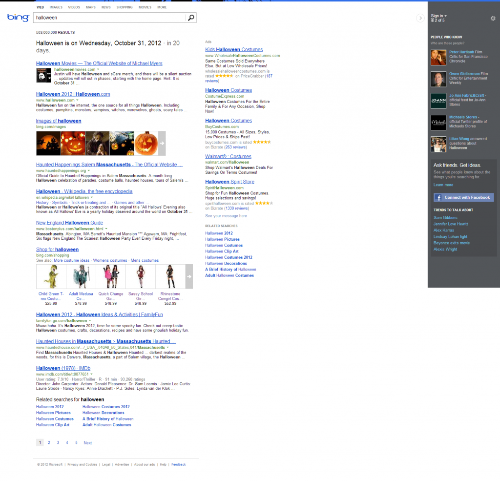 Bing Search - Halloween