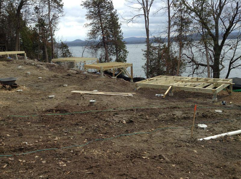 New Cabin Floors - Brown Ledge Camp