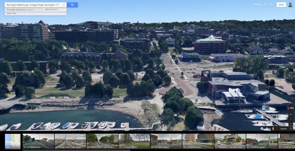 Burlington VT 3D Google Maps