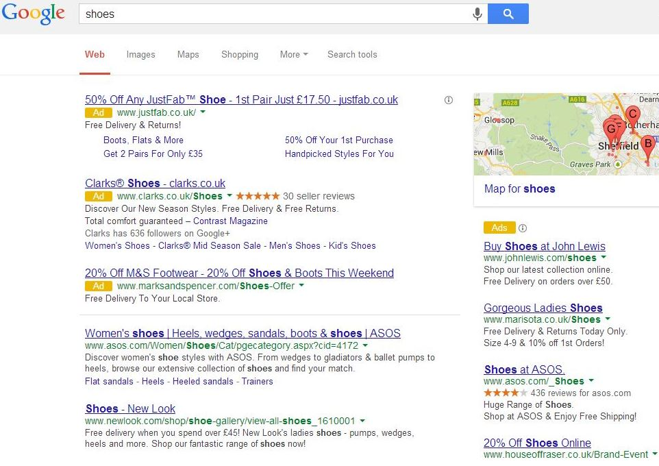 Google Ad Appearance Test