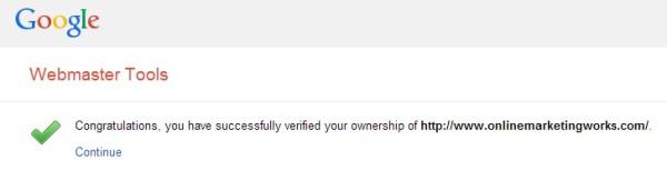Google WMT Verification Complete