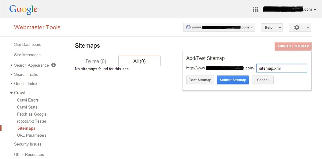 google webmaster tools account setup ownership verification