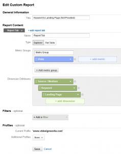 Keyword to Landing Page Custom Report