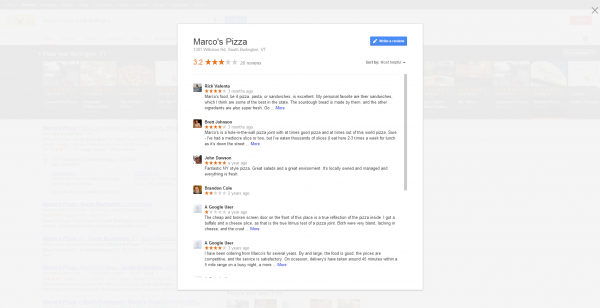 Marco's Pizza Reviews on Google