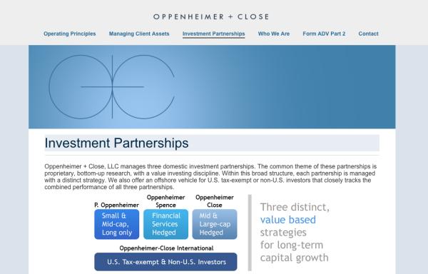 Oppenheimer-Website