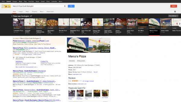 Pizza Search Results Carousel