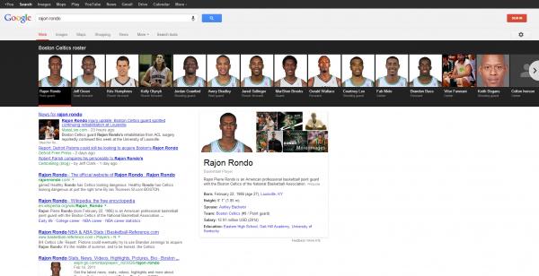 Rajon Rondo - Boston Celtics Players