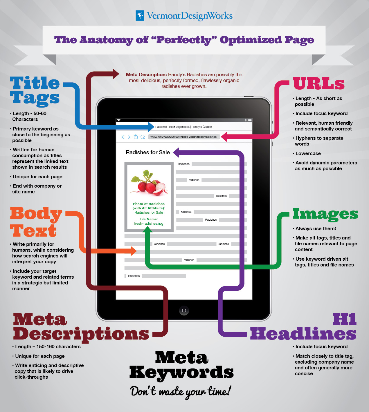 On-Page SEO - Randy's Radishes