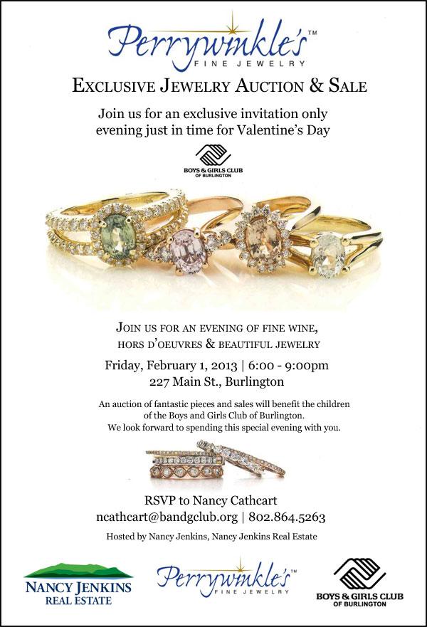 Charity Jewelry Auction - Burlington, VT