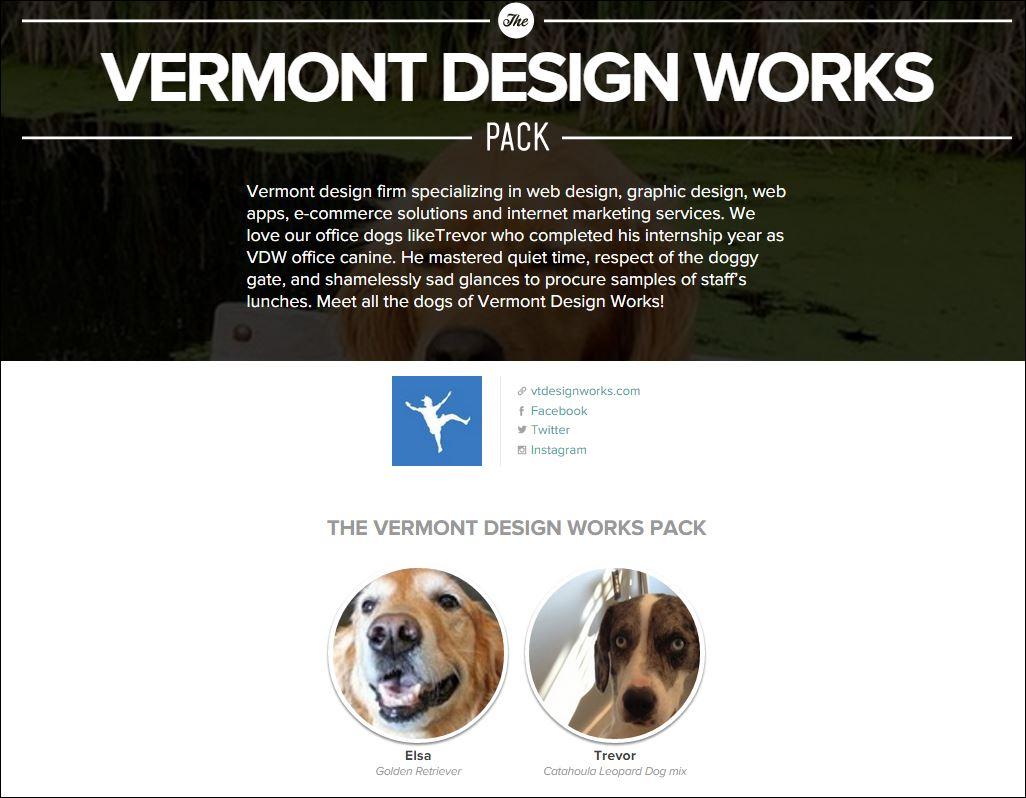 VT Design Works Dog Pack Page